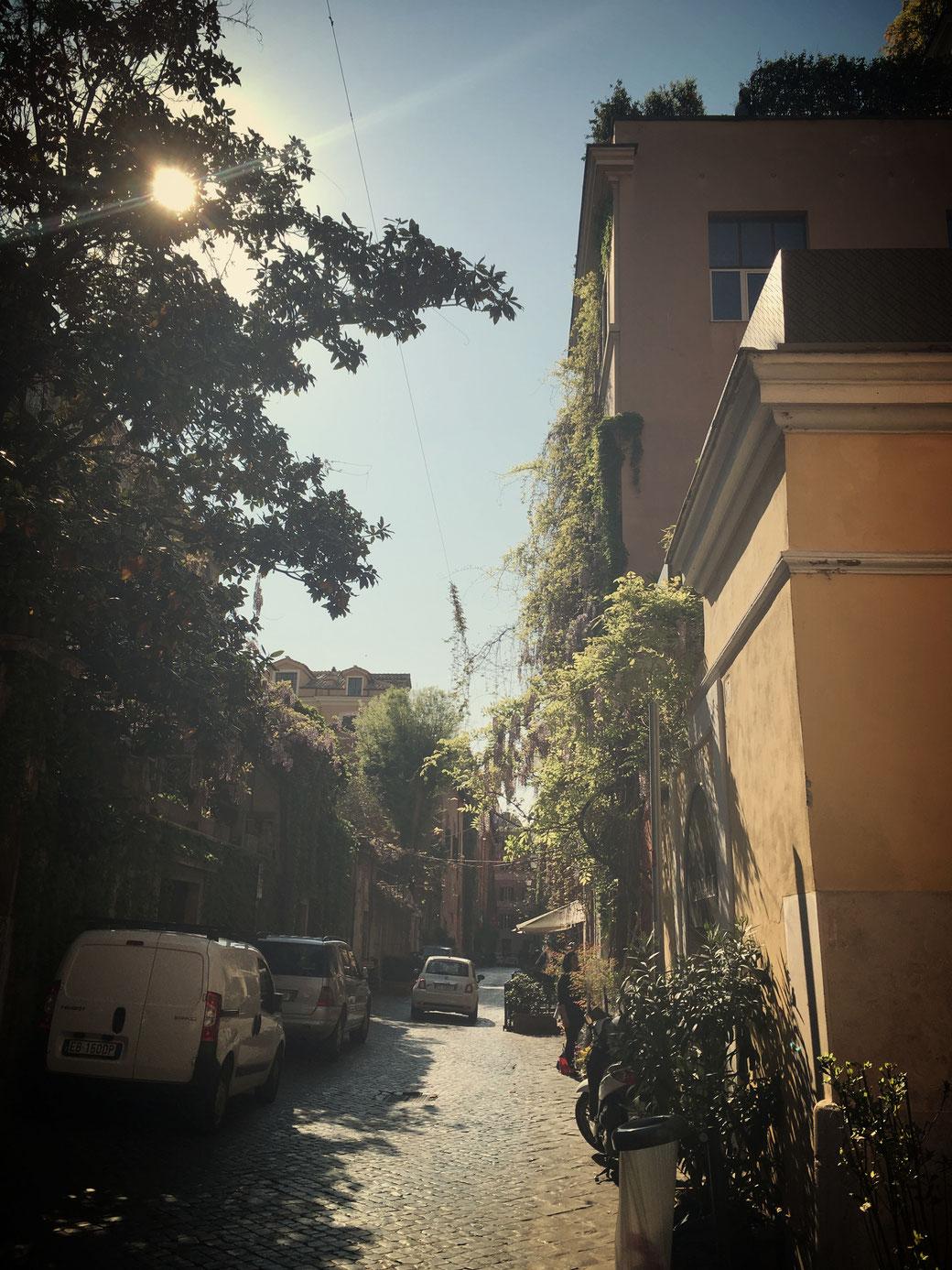 Die Via Margutta am Vormittag - frei von Reisegruppen!