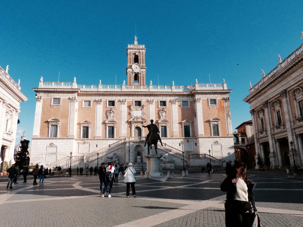 Unterwegs in Rom - Der Kapitolsplatz mit dem römischen Rathaus