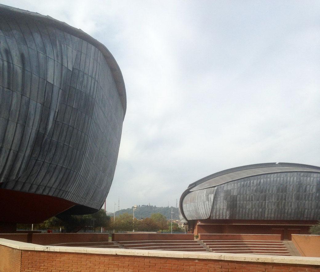Auditorium Parco della Musica - Das erste Ziel des Spaziergangs durch die römische Moderne.