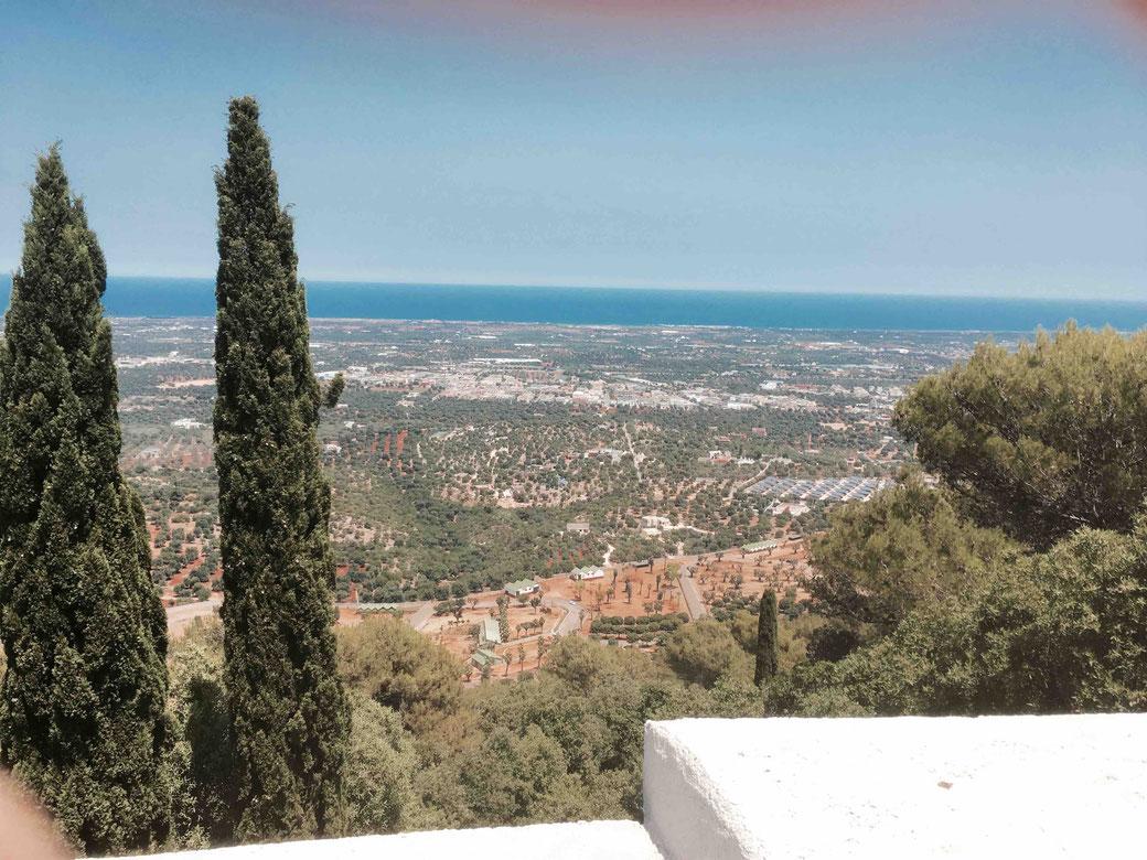 Selva di Fasano - Der Ausblick von der Panoramastraße SP2 ist einfach sensationell