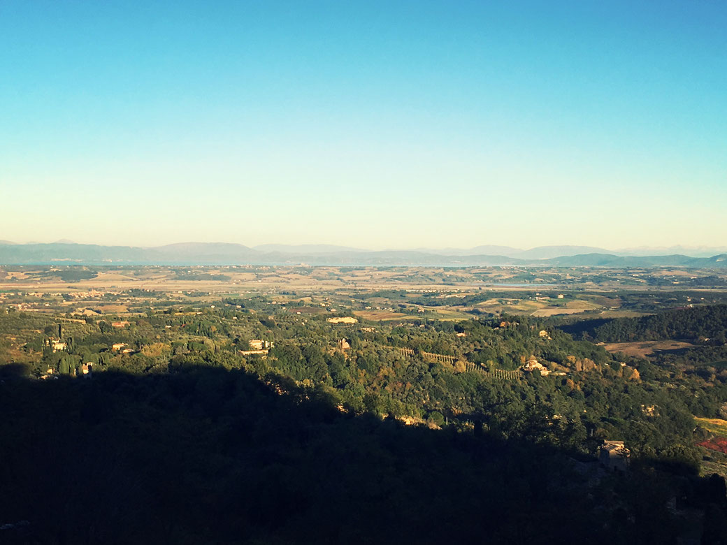 Die Aussicht in Montepulciano ist einfach spektakulär. Von hier oben aus gewinnt man Einblicke bis in die Nachbarregion Umbrien.