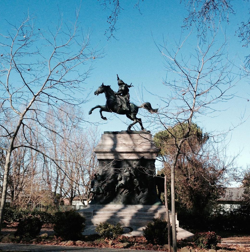 Anita Garibaldi als Heldin auf der Flucht.