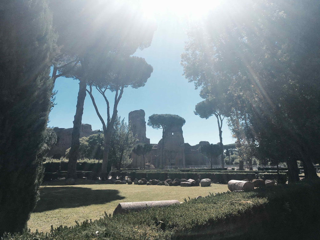 Caracalla Therme in Rom - Sightseeing absteits der Touristenpfade