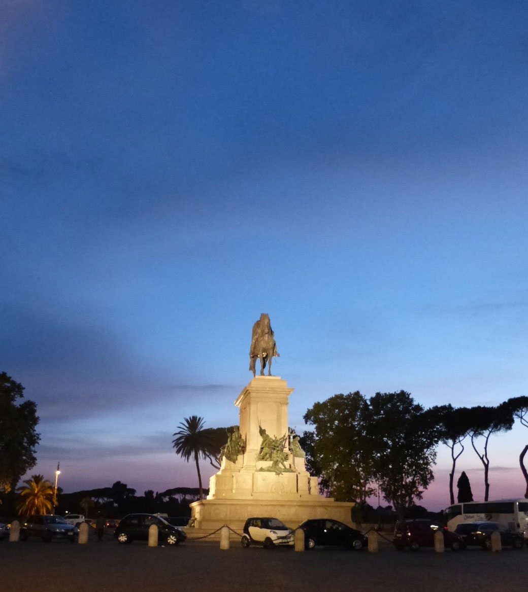 Das Reiterstandbild des italienischen Freiheitskämpfers Giuseppe Garibaldi auf dem Gianicolo