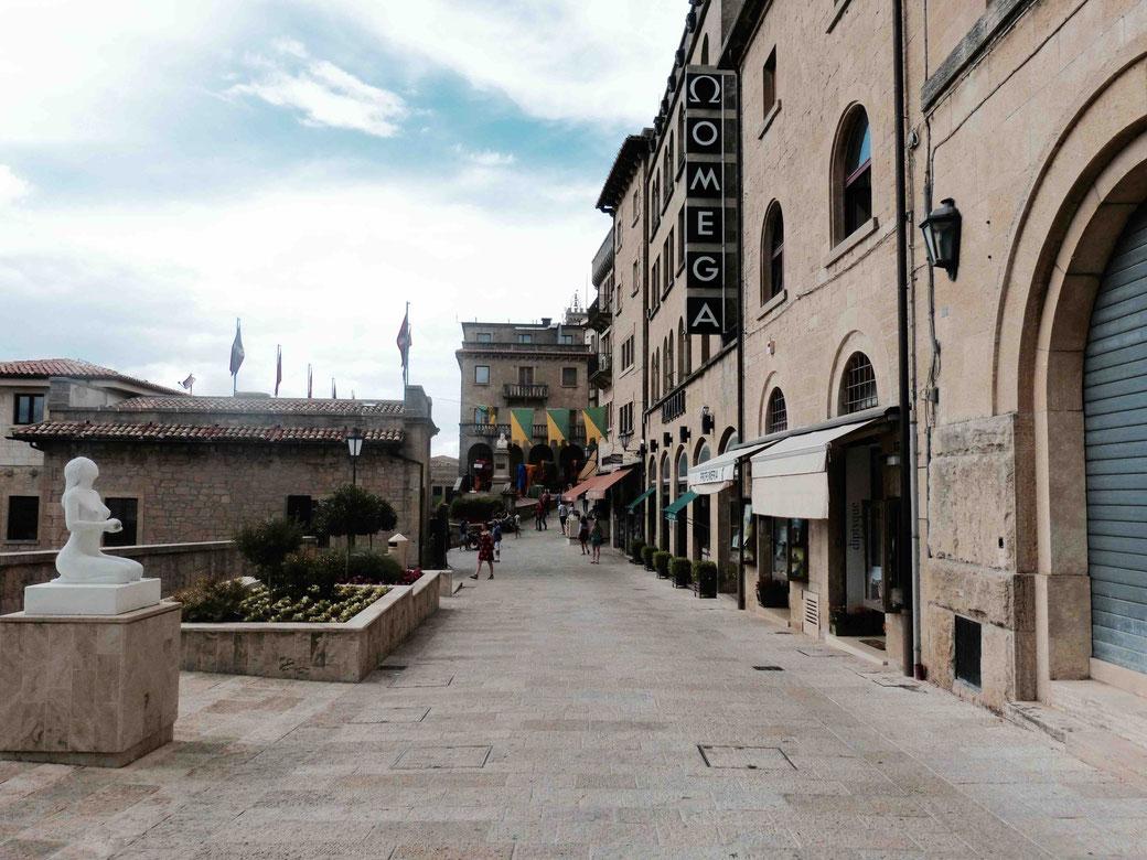 San Marino città - In der Hauptstadt des Zwergstaates leben 4000 Einwohner.