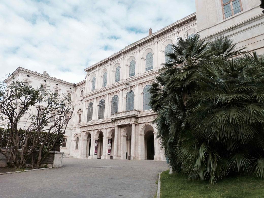 """Der Palazzo Barberini. Hier residierte Audrey Hepburn als Prinzessin in """"Ein Herz und eine Krone""""."""