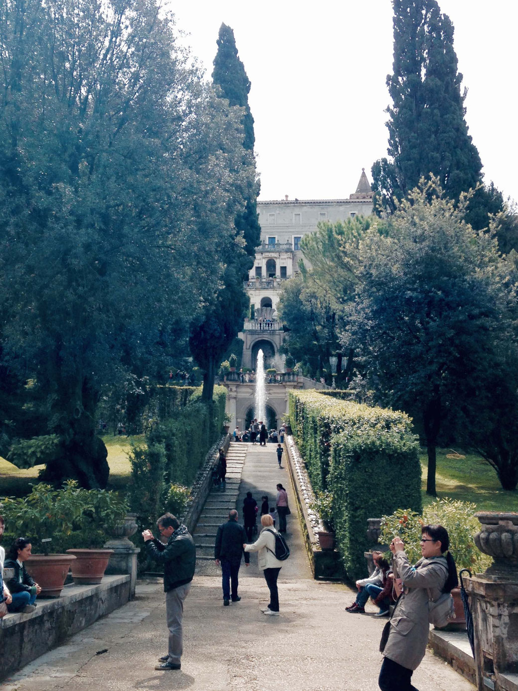 Villa d`Este in Tivoli - Wer den wundervollen Park erkunden möchte, muss einige Höhenmeter überwinden.