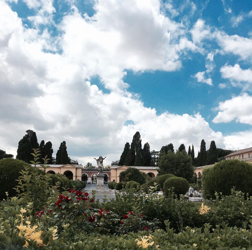Der Monumentalfriedhof Campo Verano liegt im Studentenviertel San Lorenzo