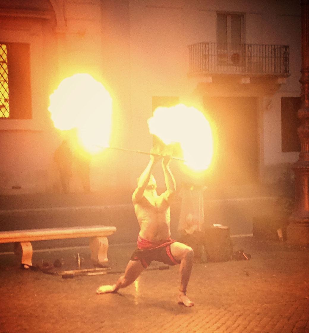 Abend-Spektakel auf der Piazza Navona