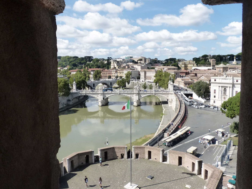 Castel Sant`Angelo - Ausblick auf den Tiber