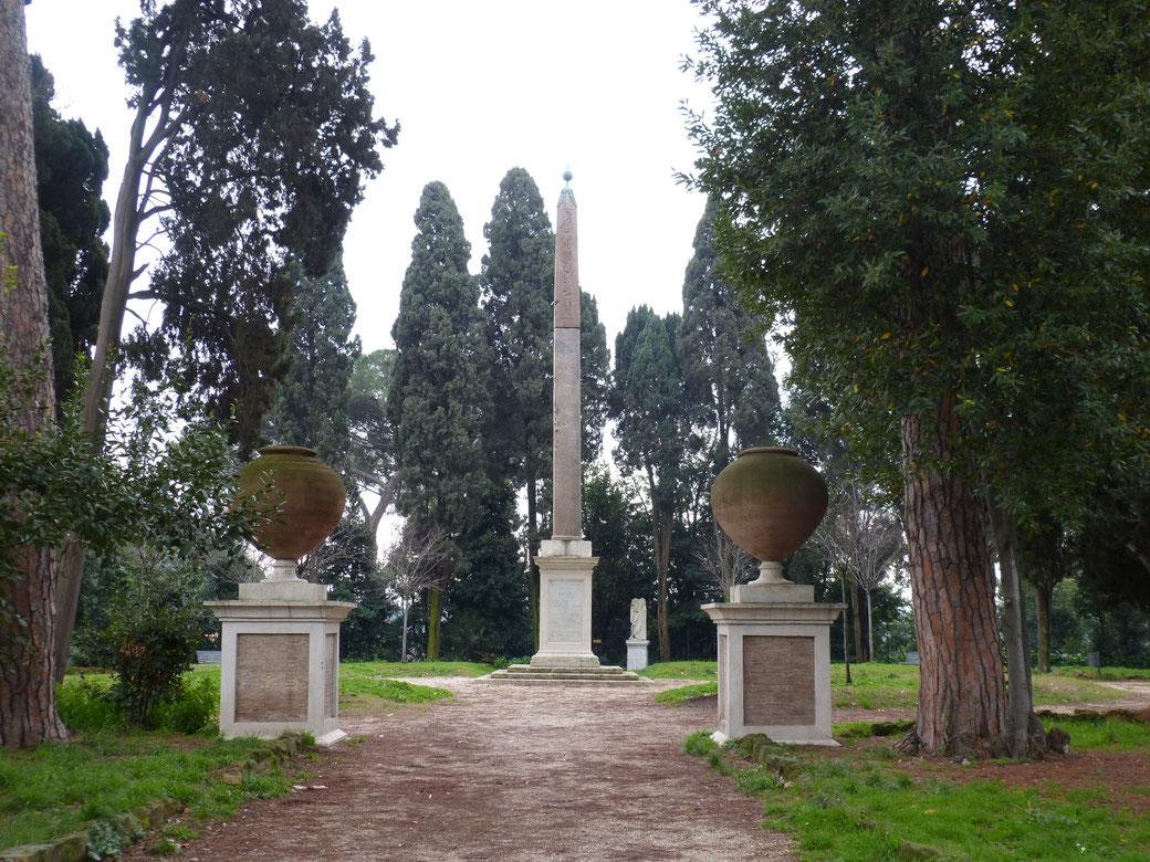Der kürzeste Obelisk in ganz Rom ist in der Villa Celimontana zu bewundern.