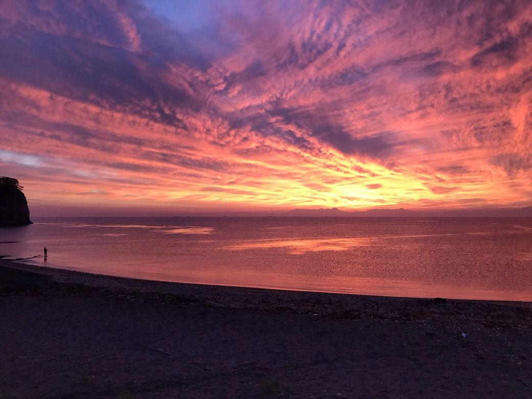 網走の趣味(釣り)写真8(朝焼けのオホーツク海)