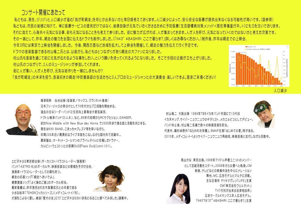 コラム「6月20日音楽イベント開催」告知 チラシ裏