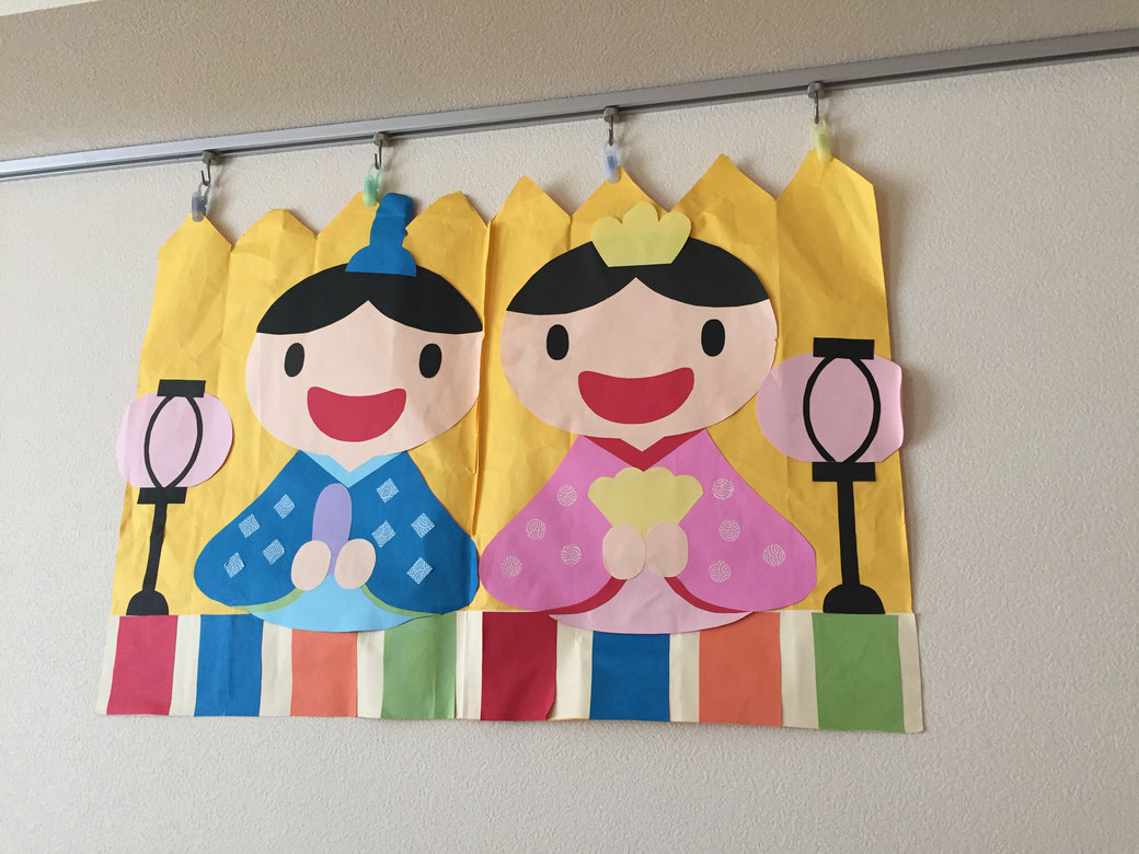 託児所のようす!(かわいらしいお弁当)写真4 お雛様の壁画