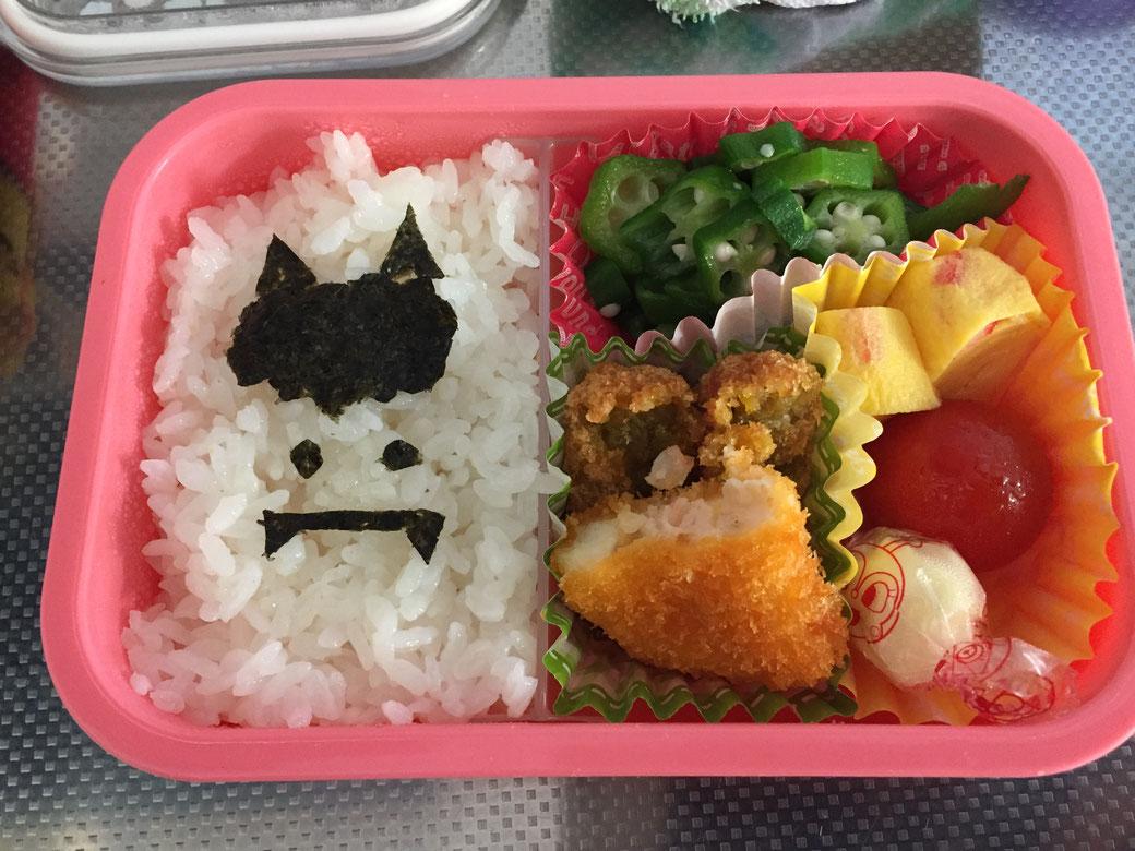 託児所のようす!(かわいらしいお弁当)写真3(鬼さんのキャラ弁)