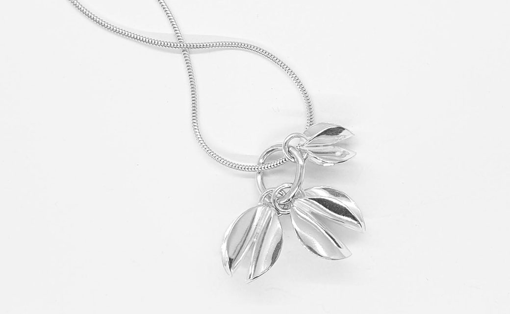 seedpod handcrafted silver charm pendant necklace