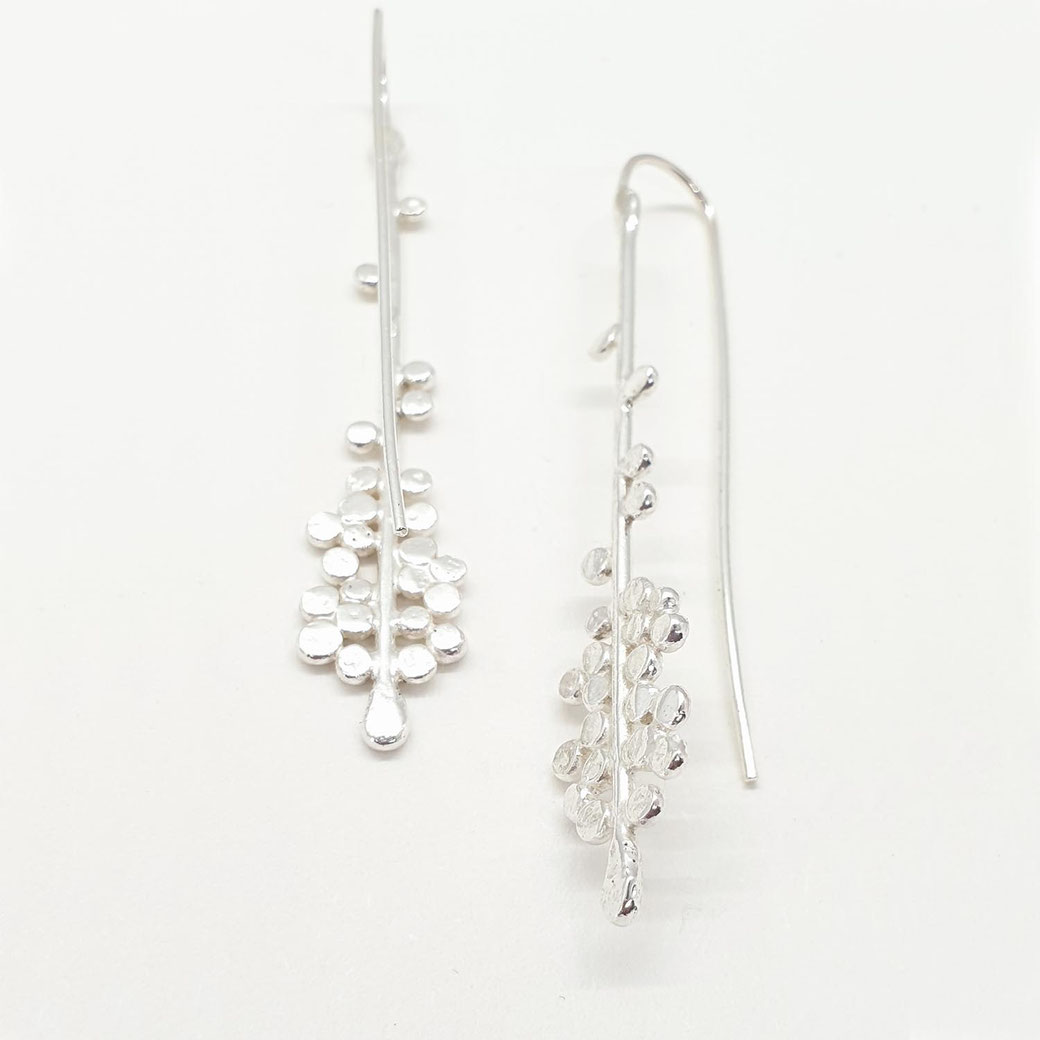 handcrafted silver drop earrings