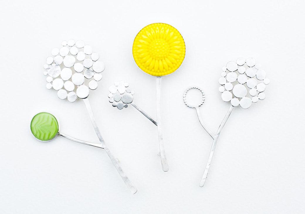 handmade sterling silver brooch pins