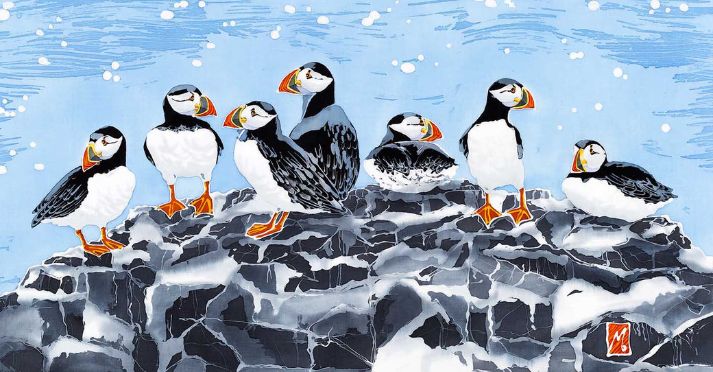 Farne Island puffin fine art seaside bird print twitcher birder print
