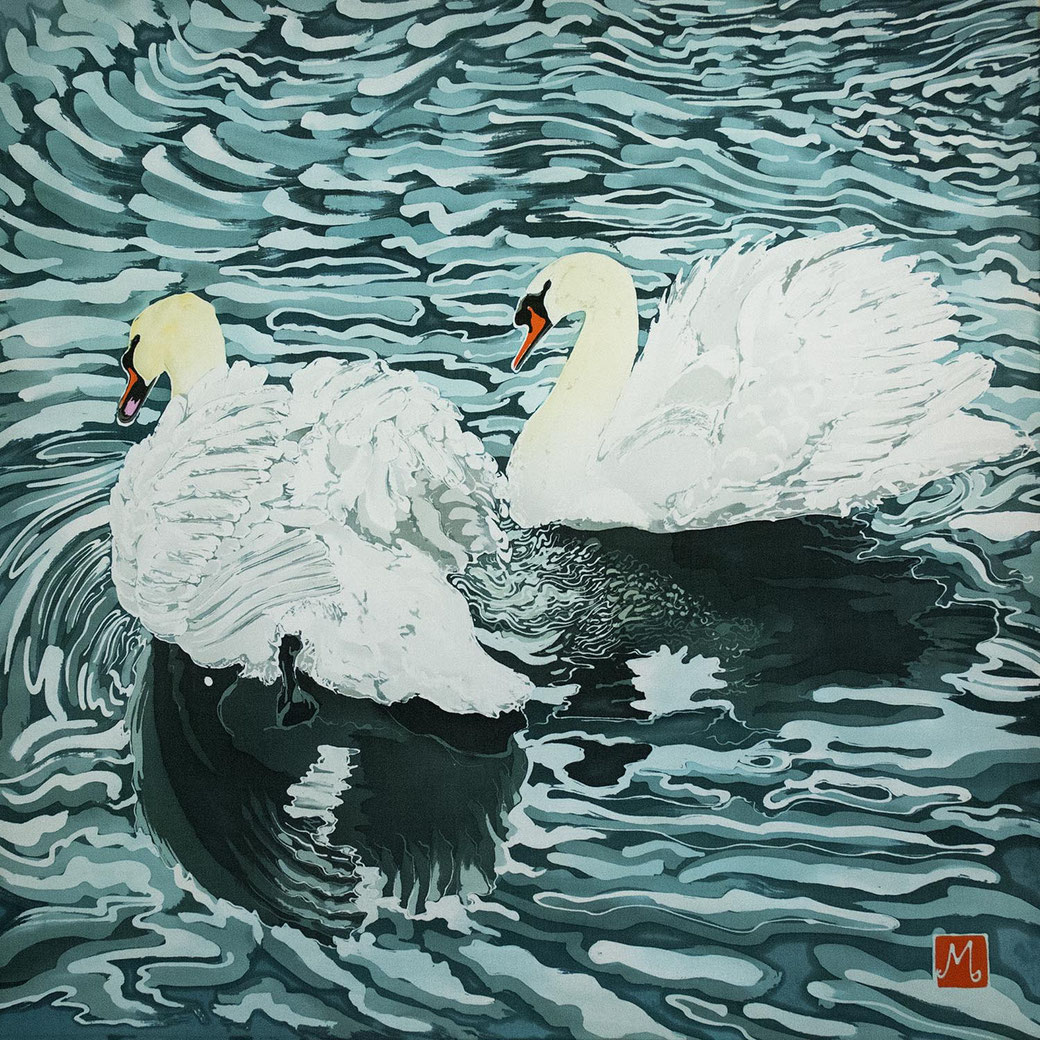 mute swans bird lover wetland nature inspired