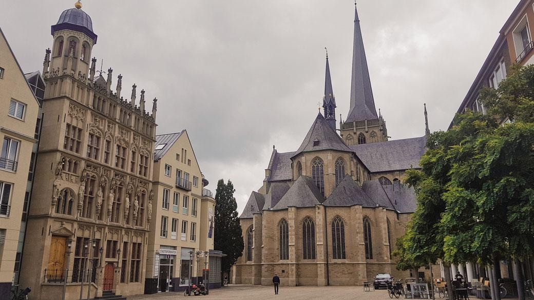 Marktplatz Wesel im Juli 2020