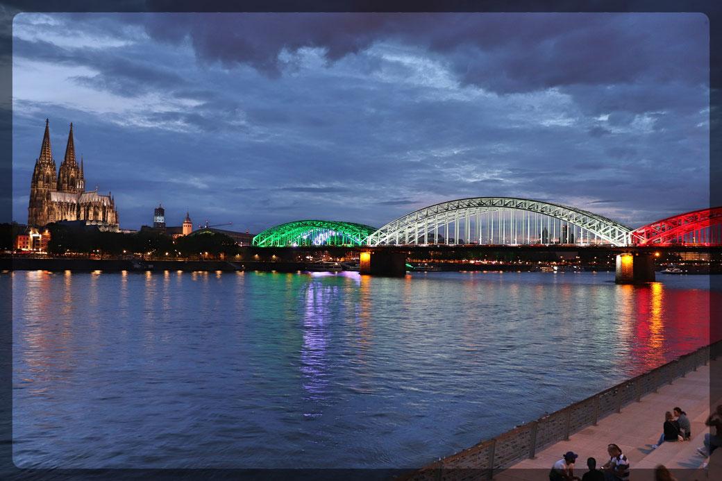 Sommerabend am Rhein: Aufnahme mit CANON EOS 77d