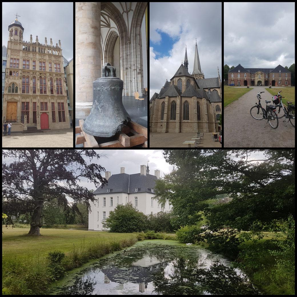 Collage Wesel und Schloss Gartrop