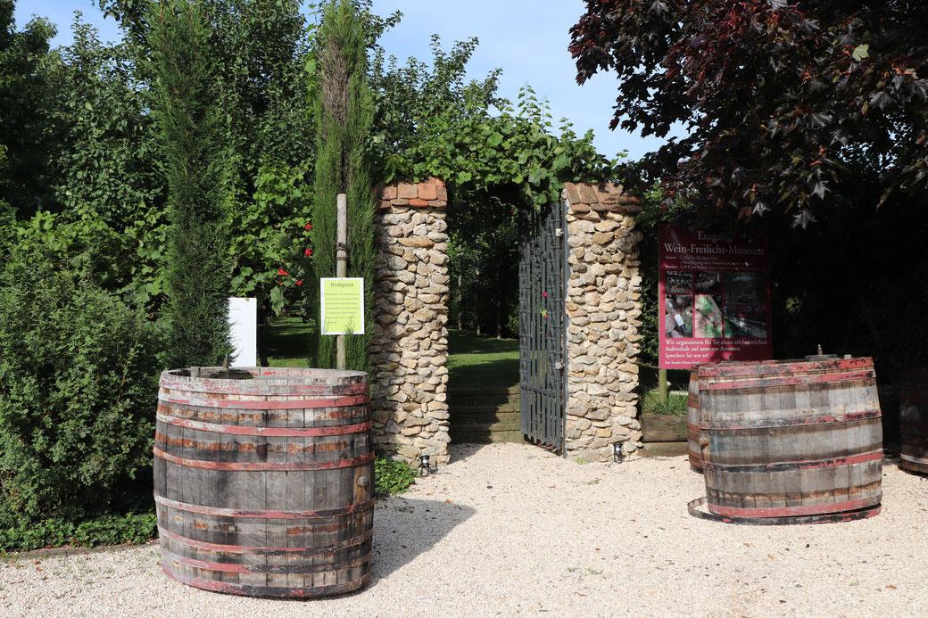 Eingang zum Weinmuseum