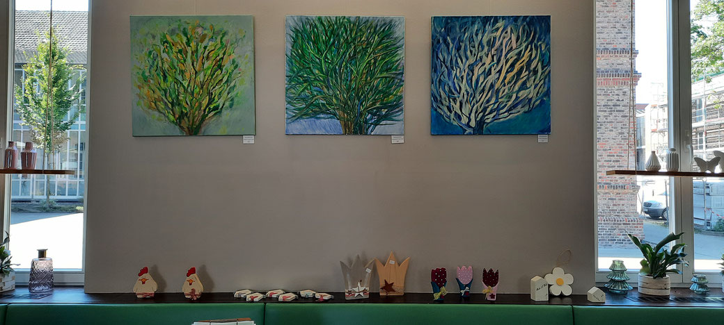 Soziales Engagement: Kunst zum Erwerb im Café Lühlerheide