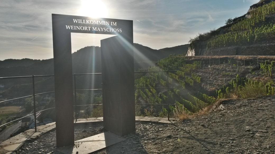 Auf dem Rotweinwanderweg bei Mayschoss