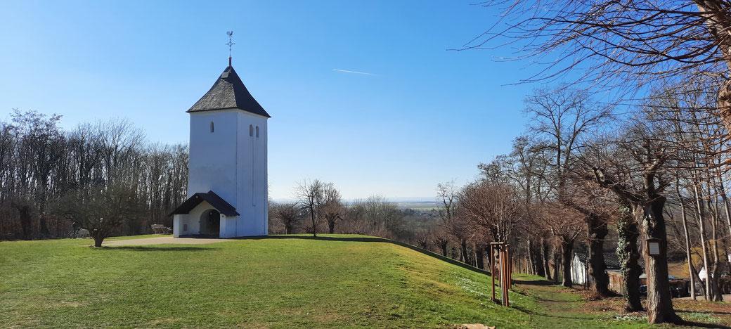 Schöne Aussichten vom Swister Türmchen- eine der ältesten Wallfahrtstätten im Rheinland am Jakobsweg