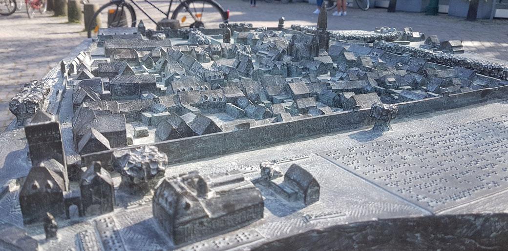 Bronzemodell der Zonser Altstadt, wir kommen wieder!