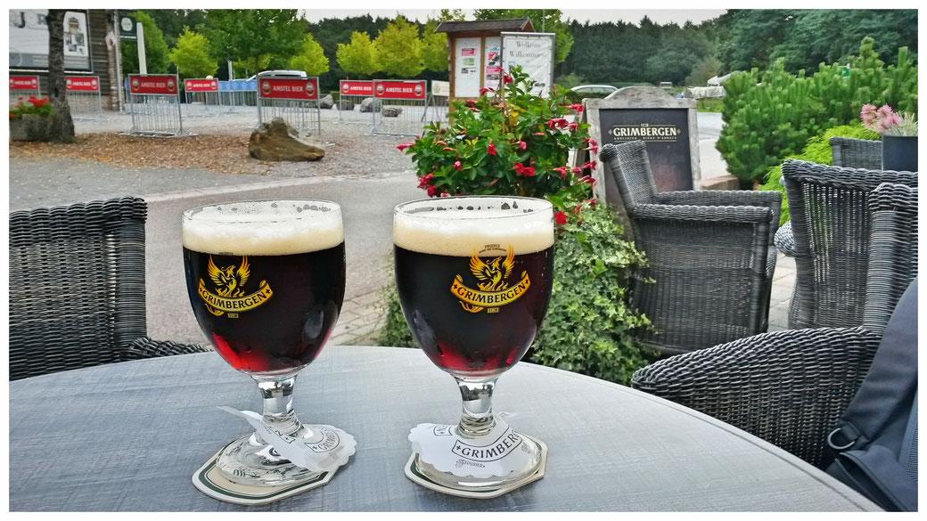 Das Belohnungs-Bierchen -gibt es sicher nicht überall vom Fass! Grimbergen unbedingt merken.
