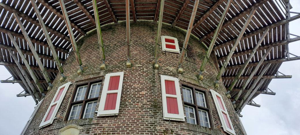 Holländisches Flair in Xanten, Mühlen begegnen uns hier immer wieder