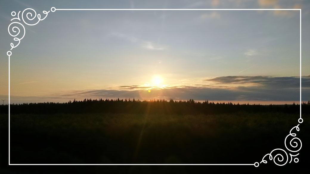 Sonnenuntergang am Weissen Stein - vom Aussichtsturm gesehen