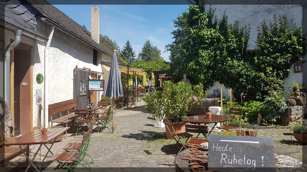 Innenhof der Nohner Mühle - Heute Ruhetag!
