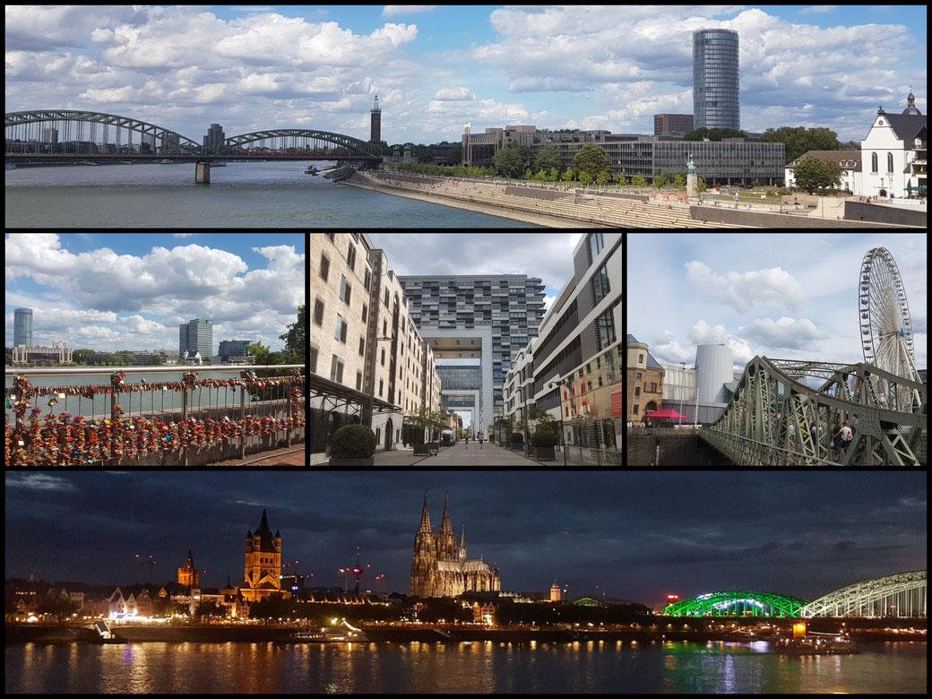 Köln Collage -hier noch meine eigenen Aufnahmen vom NRW Geburtstag