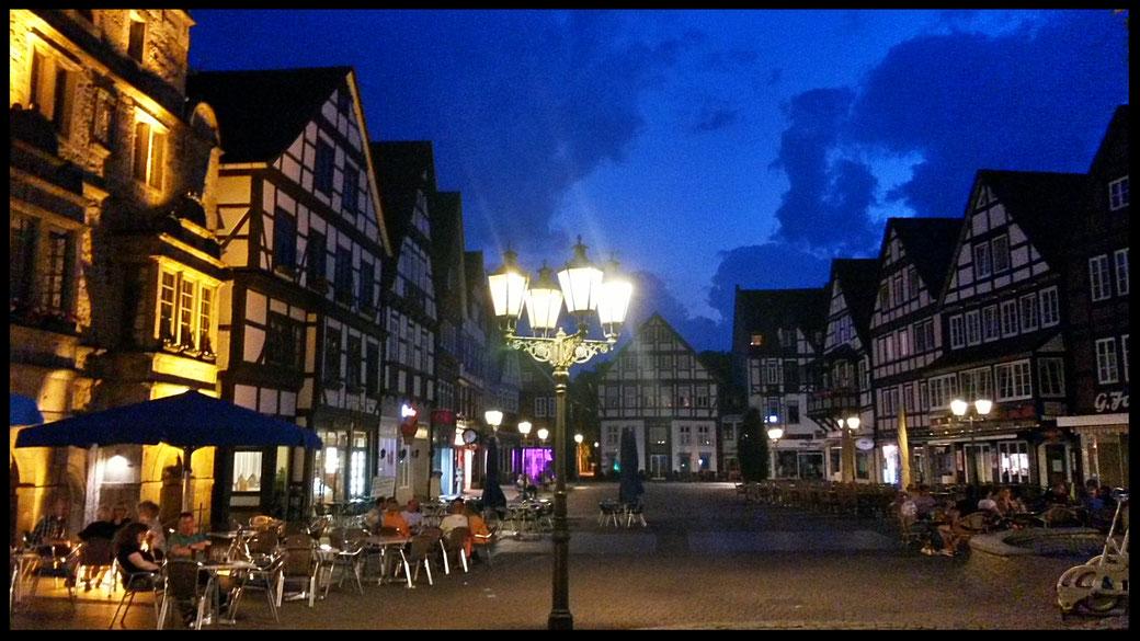 Sommerabend in der Altstadt von Rinteln