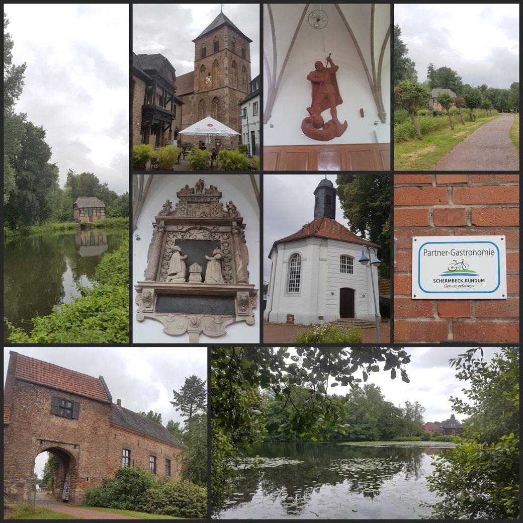 Willkommen in Schermbeck, Kleine Collage zu Beginn der Tour