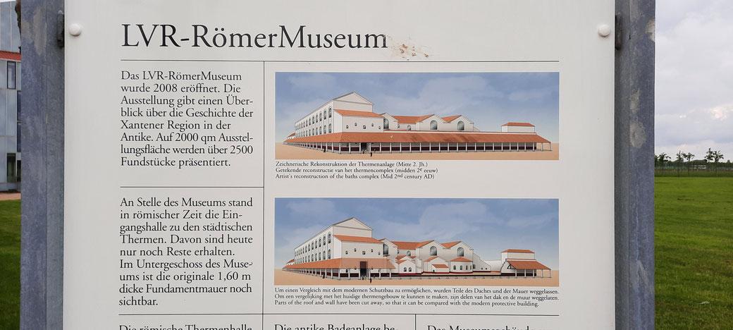 Eine von vielen Hinweistafeln im Römerpark