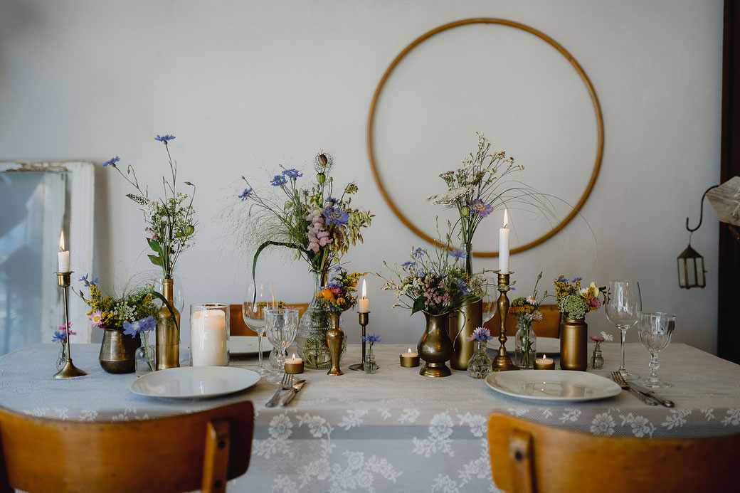 Hochzeitsdekoration Mustertisch