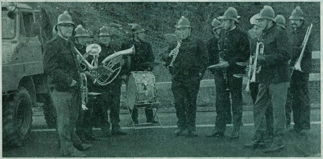 Dorfmusik Wiesendangen anlässlich der Eröffnung der Autobahn A1 (1970)