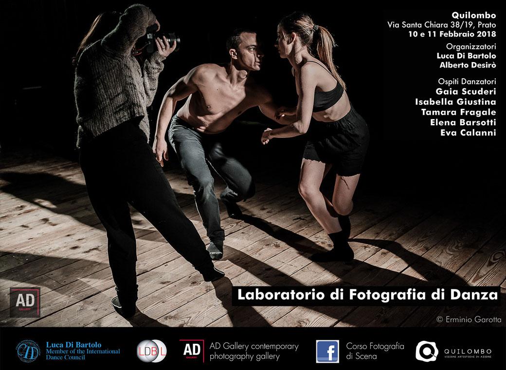Corso di Fotografia di Scena a cura di Luca Di Bartolo e Alberto Desirò - Prato - Quilombo - AD Gallery