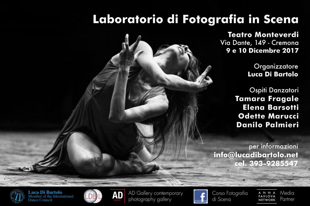 Corso di Fotografia di Scena a cura di Luca Di Bartolo - Cremona - Con Tamara Fragale