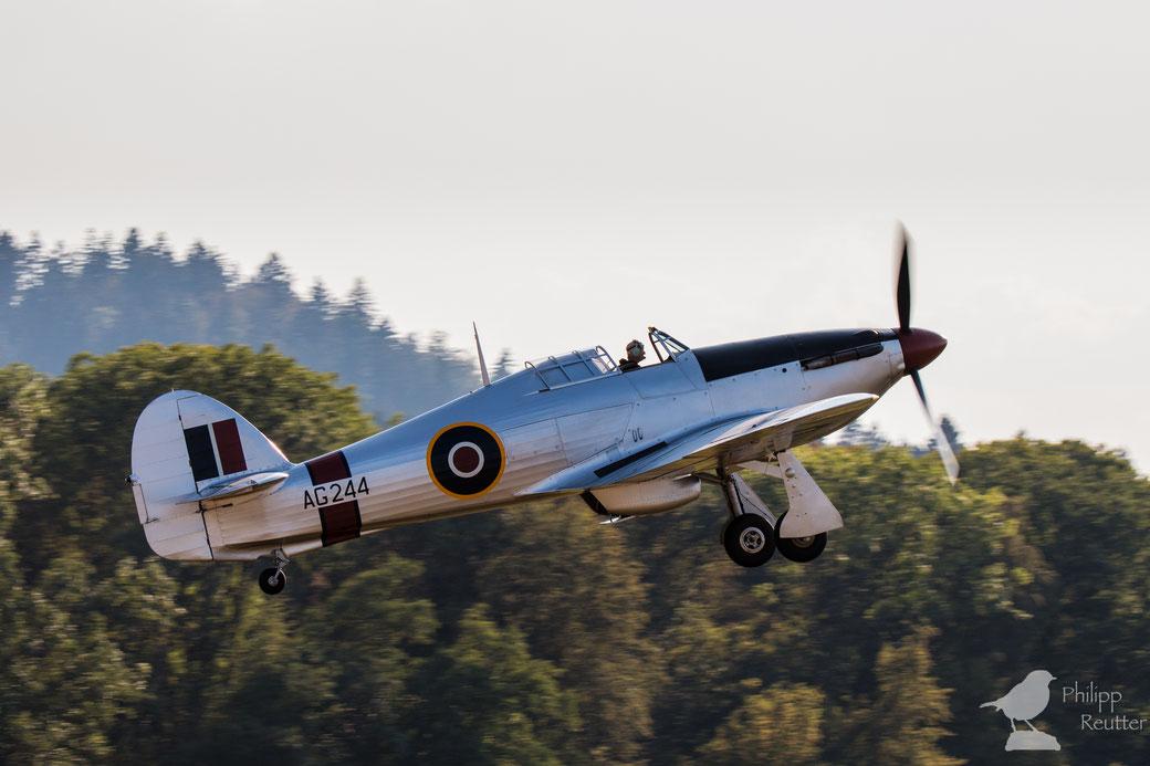 Hawker Hurricane über der Hahnweide