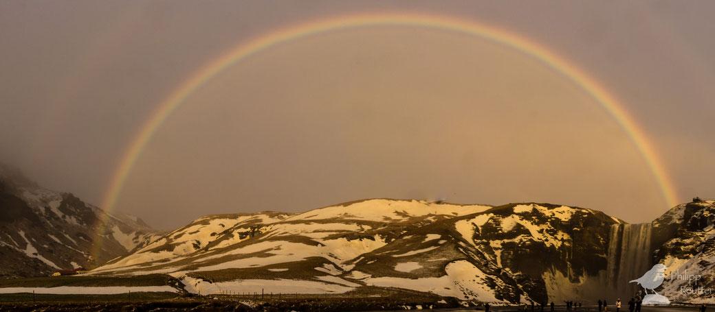 Regenbogen in Island