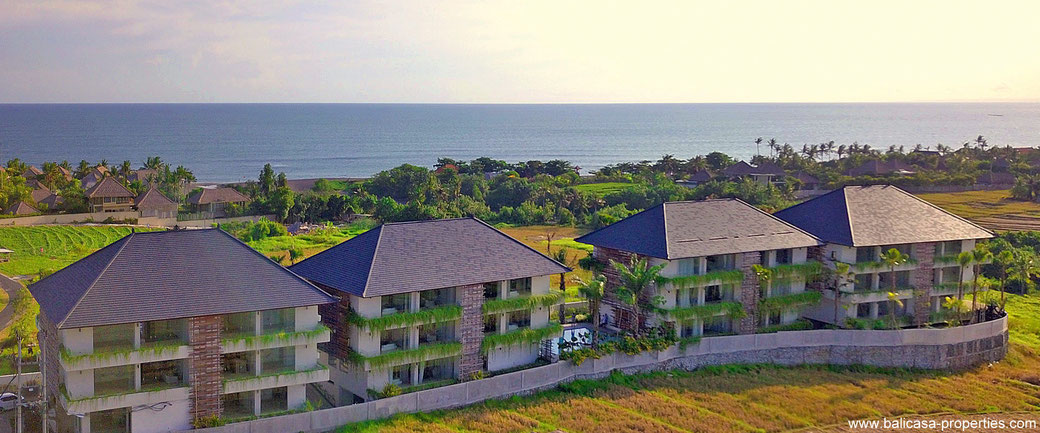 Canggu apartments for sale with views over the ocean or rice paddies. Located between Pererenan and Seseh.