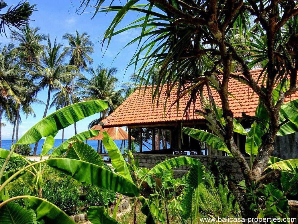 East Bali land for sale including some basic bungalows