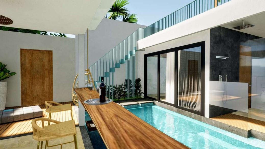 Batu Belig 1 bedroom investment villas for sale