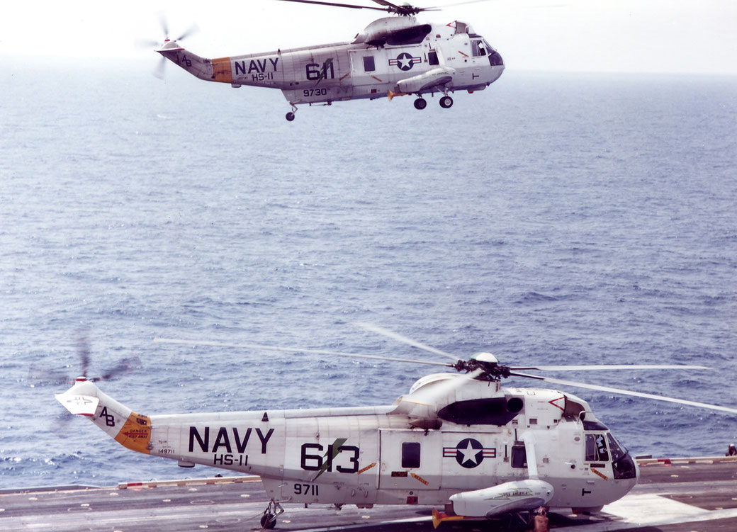 Sikorsky UH-3H Sea King Squadron HS 11 (Preserved USS Midway museum)